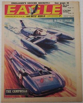 EAGLE Comic Vol.18 # 36. Dated Sept.1967. Cutaway of Tower Block construction.