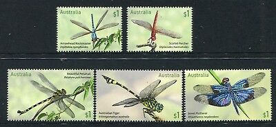 2017 Dragonflies -  MUH Set of 5 Stamps