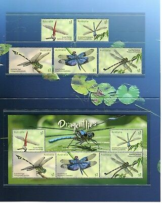2017 Dragonflies - Post Office Pack With Stamps & Mini Sheet