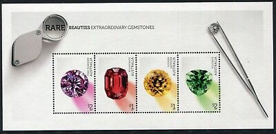 2017 Rare Beauties! Extraordinary Gemstones - MUH Mini Sheet