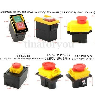 10 Type Release Emergency Stop Switch for Industrial Workshop Electronic Machine