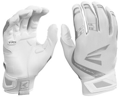 1pr Easton ZF7 VRS Hyperskin Womens Medium White/White Fastpitch Batting Gloves