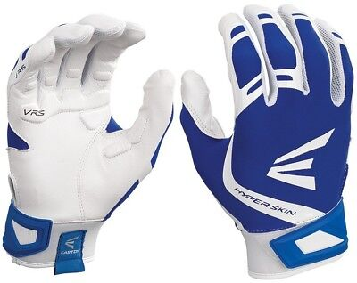 1pr Easton ZF7 VRS Hyperskin Womens Medium White/Royal Fastpitch Batting Gloves
