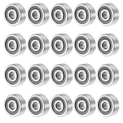 20pcs 623-2RS 3mmx10mmx4mm Double Sealed Miniature Deep Groove Ball Bearing