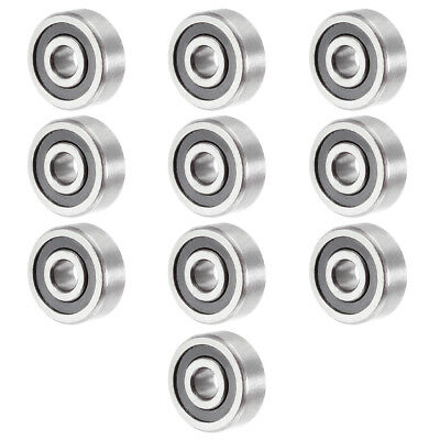 10pcs 623-2RS 3mmx10mmx4mm Double Sealed Miniature Deep Groove Ball Bearing