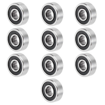 10pcs 605-2RS 14mmx5mmx5mm Double Sealed Miniature Deep Groove Ball Bearing