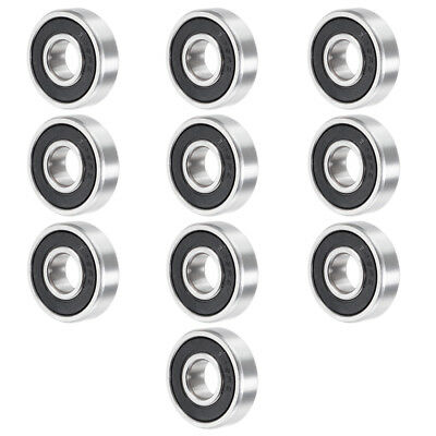 609RS 24mmx9mmx7mm Double Sealed Miniature Deep Groove Ball Bearing 10pcs