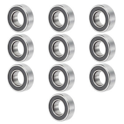10pcs MR126-2RS 12mmx6mmx4mm Double Sealed Miniature Deep Groove Ball Bearing