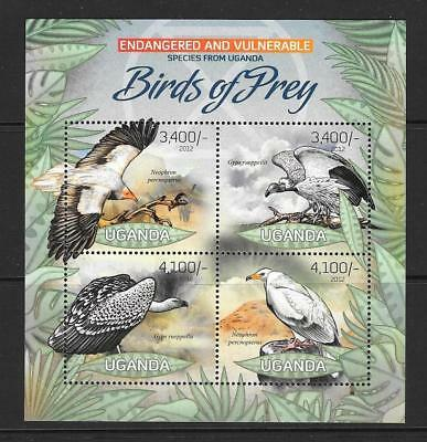 Uganda 2012 Birds Of Prey (2) Mnh