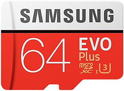 Samsung Memory Evo Plus 64GB Micro SDXC Card UHS-I U3 Class 10 100MB/s with SD A