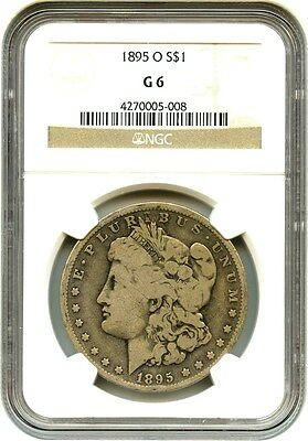 1895-O $1 NGC Good-06 - Key Date from New Orleans - Morgan Silver Dollar