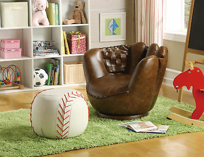 Excellent Crown Mark Baseball Glove Kids Faux Leather Chair And Beatyapartments Chair Design Images Beatyapartmentscom