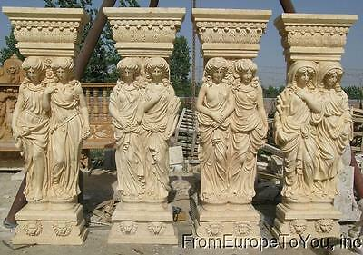 Massive Hand Carved Marble 4 Season Monumental Statues Ch024