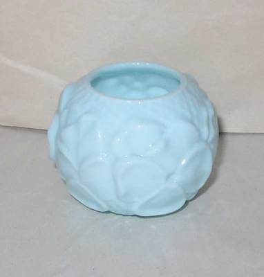 EAPG Victorian Blue Opaque Milk glass Pansy toothpick holder, undamaged