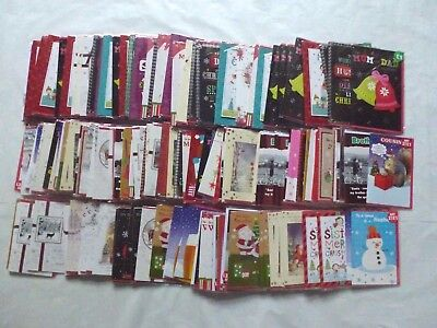 175 X Christmas Greeting Cards Job Lot Car Boot Resale