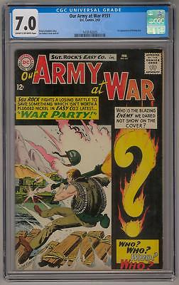 Our Army at War #151 CGC 7.0 (C-OW) 1st Enemy Ace