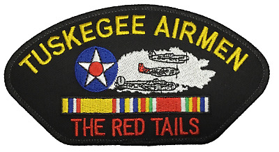 Tuskegee Airmen Veteran Red Tails Iron On Patch