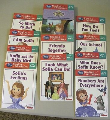 DISNEY LEARNING - READING ADVENTURES - Level Pre-1 - Complete Set of 10 books