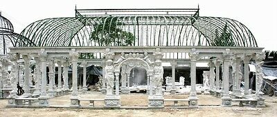 The Best Monumental Figural Hand Carved Marble Gazebo