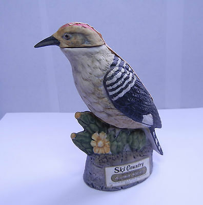 "Gila Woodpecker Ski Country Mini Decanter 4-3/4""h Hp Detailed Porcelain"