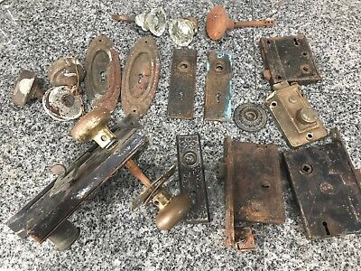 Lot Of Door Knob Escutcheon Repurpose Steampunk Art Vintage Antique