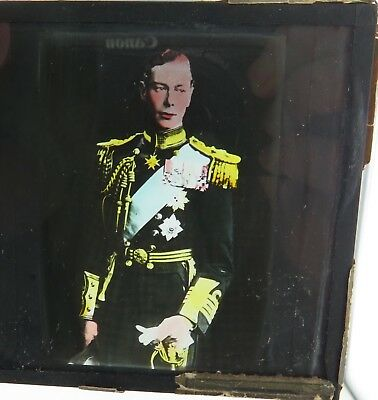 RARE c1930's / 1940's KING GEORGE VI COLOUR SLIDE.