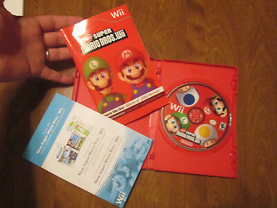 Super Mario Bros.  (Wii, 2009) COMPLETE SCRATCHES BUT TESTED WORKS PERFECTLY
