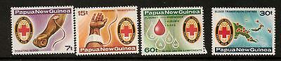 Papua New Guinea Sg393/6 1980 Red Cross Mnh