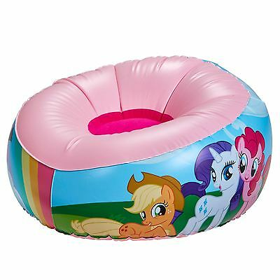OFFICIAL MY LITTLE PONY INFLATABLE CHAIR KIDS GIRLS PINK COLOURFUL 35cm x 65cm