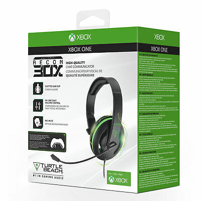 Turtle Beach Ear Force Recon 30X Gaming Chat Headset for Xbox One & S + PS4 & PC