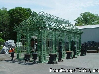 Large Open Tubular And Cast Iron Garden Gazebo - Gazebo 16
