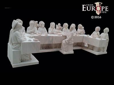 The Best Hand Carved Marble Religious Gothic Church Last Supper Carvings - Lsc4