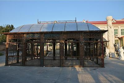 Custom Victorian Style Cast Iron, Glass Garden Estate Gazebo - Conservatory -