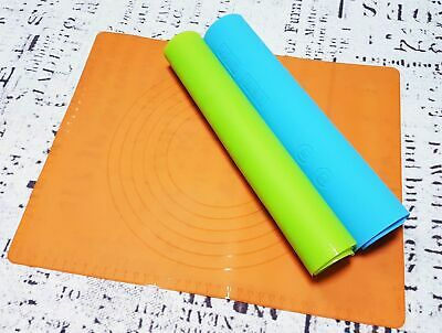 2 SIZES Silicone Sheet Rolling Mat Fondant Pastry Sugar Craft Worktop Protector