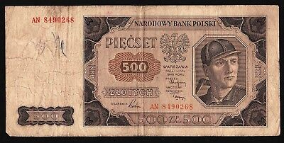 500 Zloty From Poland 1948 M