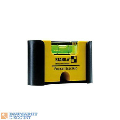 Stabila Mini Wasserwaage Pocket Electric mit Gürtelclip