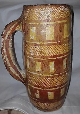 Antique North Africa Kabyle Berber Moroccaan Pottery Drinking Tankard C19th