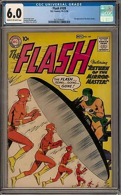 Flash #109 CGC 6.0 (C-OW) 2nd appearance of the Mirror Master