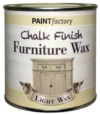 Paint Factory Chalky Furniture Wax Shabby Chic 200ml Clear Light Wax