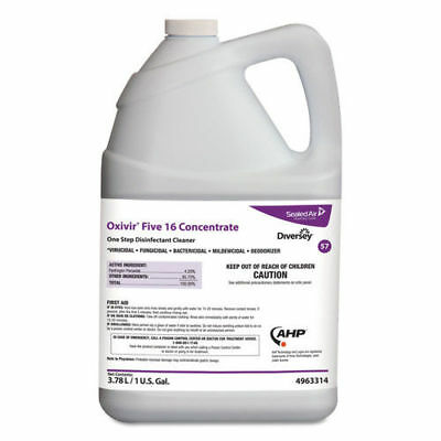 Diversey Five 16 One-Step Disinfectant Cleaner, 1gal Bottle, 4/ctn 4963314 NEW