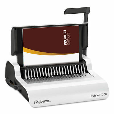 Fellowes Pulsar Manual Comb Binding System 300 Sheets White 5006801 NEW