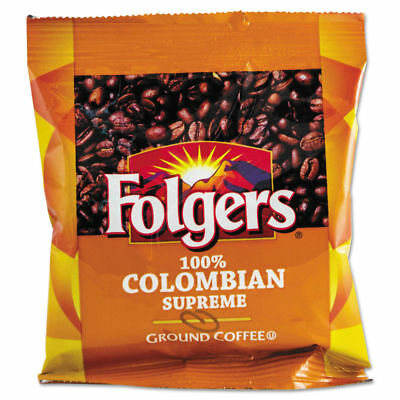 Folgers Coffee, 100% Colombian, Ground, 1.75oz Fraction Pack, 42/carton 6451 NEW