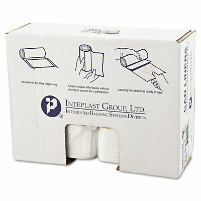 Inteplast Group HD Can Liner 60gal Clear, 25/roll, 8 Rolls/carton S386017N NEW