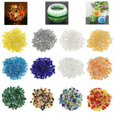 CO_ 250 Vitreous Glass Mosaic Tiles Pieces for DIY Crafts Material Supply 10x10m