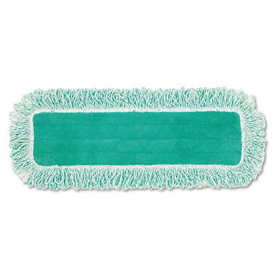 "Rubbermaid Dust Pad W/fringe, Microfiber, 18"" Long, Green, 6/carton Q418GNCT NEW"