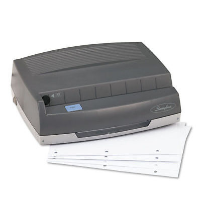 """Swingline 50-Sheet 350md Electric Three-Hole Punch,9/32"""" Holes,Gray 9800350 NEW"""