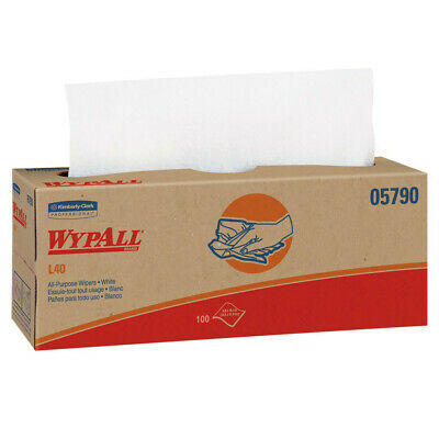 WypAll L40 100 Wipes/Box Cloth-Like Wipes (9-Pack) 05790 NEW