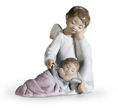 Lladro My Guardian Angel Brand New In Box #8549 Girl Pink Save$ Free Shipping
