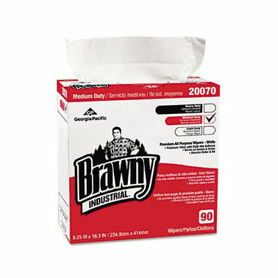 "Brawny Industrial 9-1/4""x16-3/8"" Medium-Duty Wipes (10-Pack) 2007003CT New"