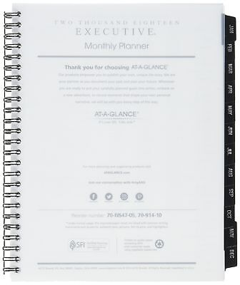 At-A-Glance 70-914-10-07 Executive Monthly Planner Refill, 6 5/8 X 8 (709141007)